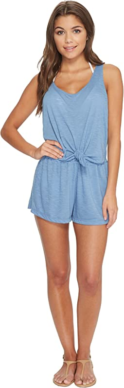 BECCA by Rebecca Virtue - Breezy Basic Knot Romper Cover-Up