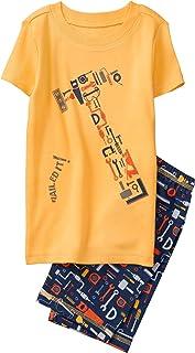 Gymboree Boys' 2-Piece Short Sleeve Tight Fit Pajama Set