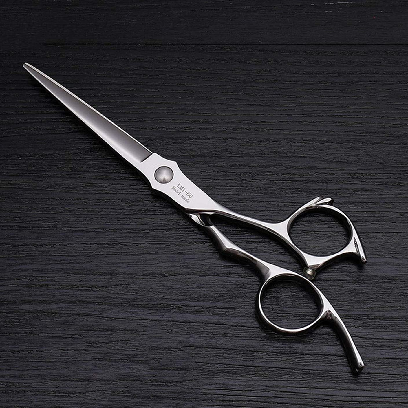 海岸ファイター休憩6インチプロフェッショナル美容院理髪ステンレス鋼フラットせん断 モデリングツール (色 : Silver)