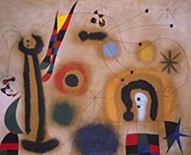Joan Miró - Dragonfly with red wings, Canvas Art Print, Size 24x30, Non-Canvas Poster Print