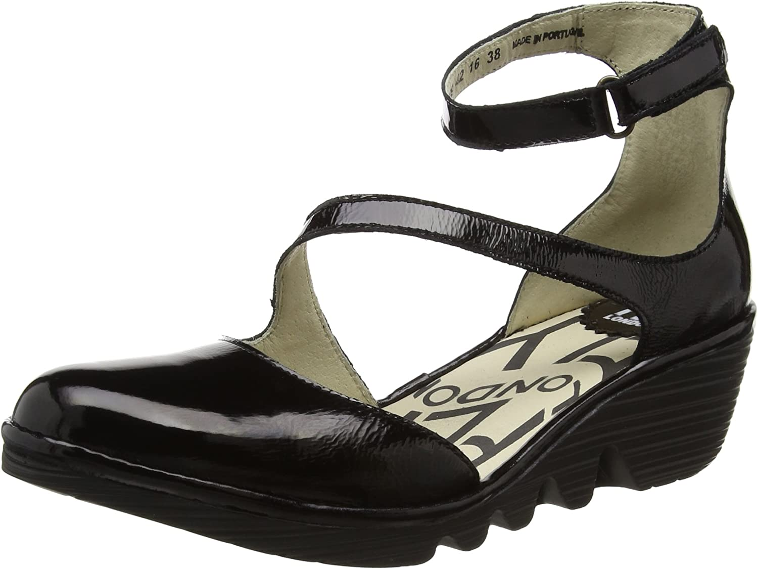 Fly London Plan - Black Luxor (Leather) Womens shoes