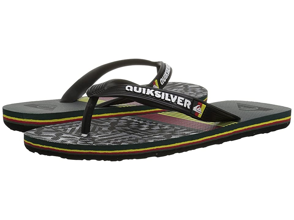 Quiksilver Kids Molokai Highline Division (Toddler/Little Kid/Big Kid) (Red/Yellow/Green) Boys Shoes