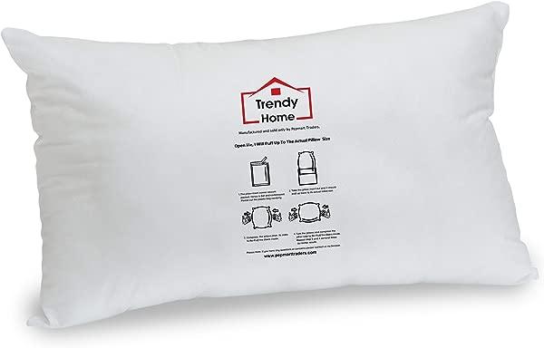 Trendy Home 12 X 18 Premium Hypoallergenic Stuffer Home Office Decorative Throw Pillow Insert Standard White 12x18
