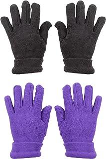 BODY STRENTH Kids Magic Gloves Polar Fleece Winter Warm 2 Pairs