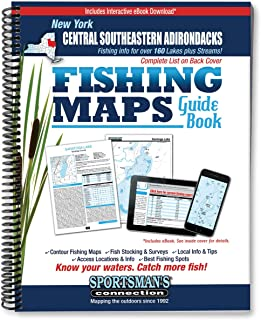 Central Southeastern Adirondacks New York Fishing Map Guide
