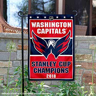 WinCraft Washington Capitals 2018 Stanley Cup Champions Double Sided Garden Flag