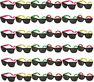 Funny Party Hats Neon Sunglasses- 36 Pack - Bulk...