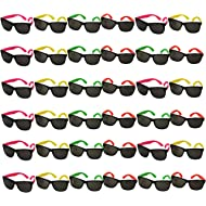 Funny Party Hats Neon Sunglasses- 36 Pack - Bulk Sunglasses - Party Glasses - Pool Party - Beach...