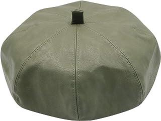 قبعة KingSEVEN للنساء من جلد البولي يوريثان قبعة فرنسية مناسبة للشتاء دافئ
