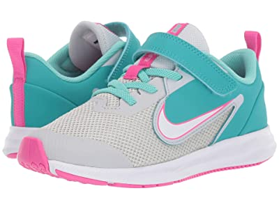 Nike Kids Downshifter 9 (Little Kid) (Pure Platinum/White/Cabana) Girls Shoes