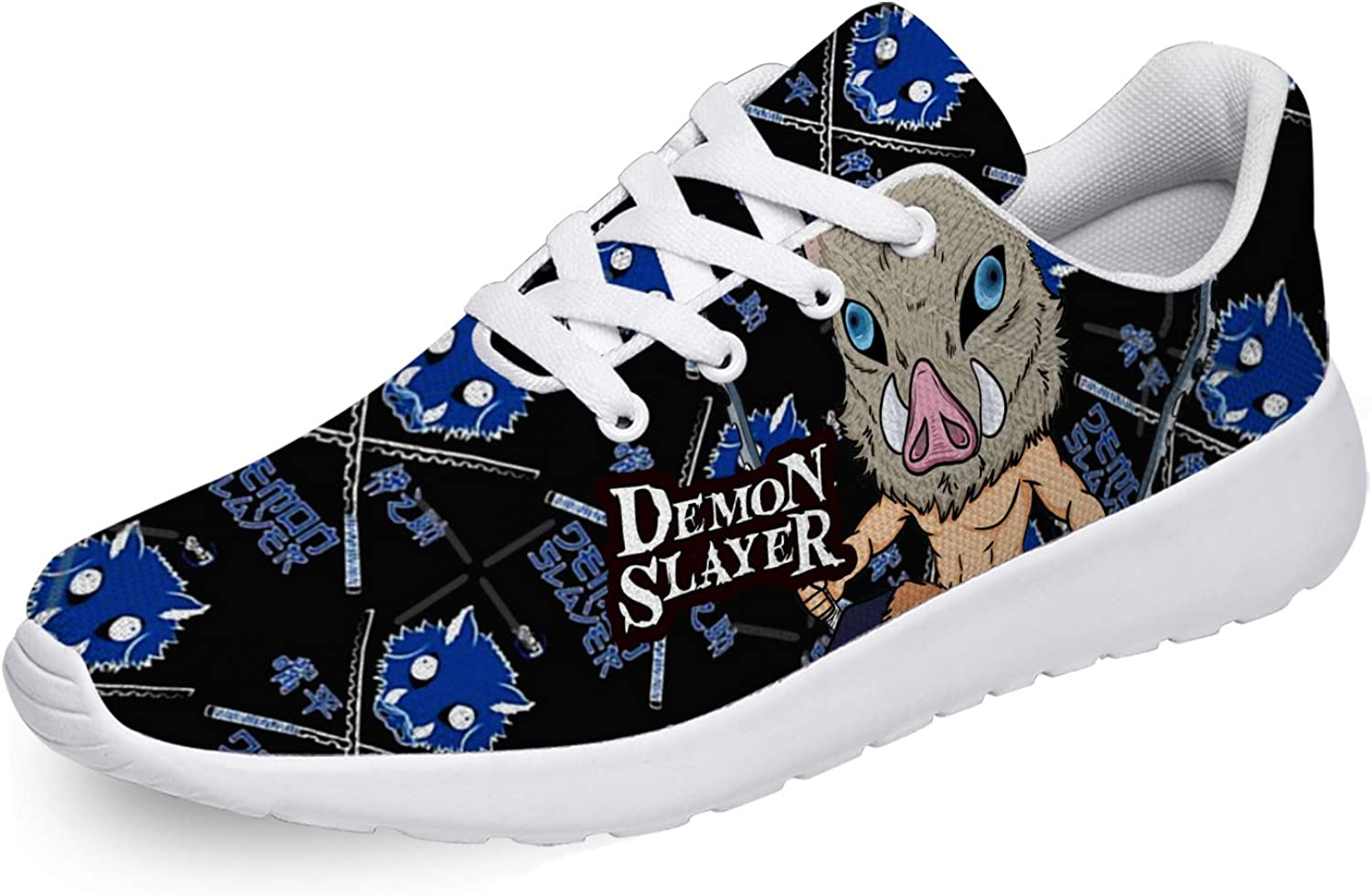 ADIGOW Mens Womens Japanese Anime Personalited Shoes Mesh Lace-u Industry No. 1 Elegant