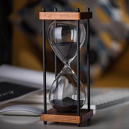 Lodunsyr 60 Minutes Sablier Minuteur Horloge de Minuterie de Sable 60 Minutes Cadre en Bois Sandglass Timer Accueil D/écoration Bureau Ornement Minuterie de Cuisine Hourglass Timer Violet