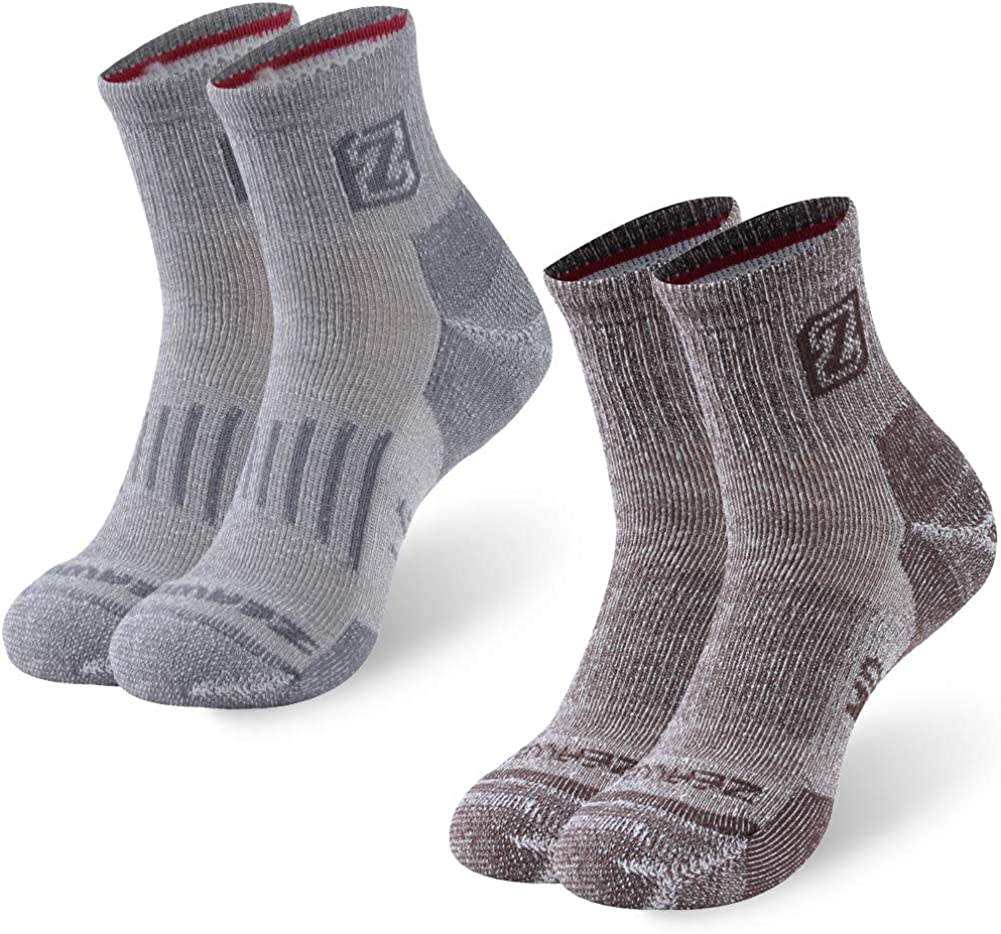 Merino Wool Max 56% OFF Socks Los Angeles Mall ZEAL WOOD Hiking Unisex Trekking Sock Quarter