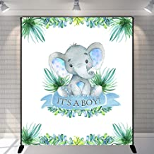 Mehofoto Boy Elephant Baby Shower Backdrop It's A Boy Peanut Baby Shower Background 5x6ft Vinyl Elephant Baby Shower Party Banner Decoration