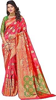 بلوزة ساري للنساء الهندية التقليدية متعددة الألوان بنسيج حريري ناعم بلون متباين Pallu 5799