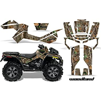 Specter Yellow AMR Racing ATV Graphics kit Sticker Decal Compatible with Can-Am Renegade 500//800//1000 All Years