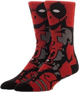 Marvel Comics Deadpool 360 Crew Socks Standard
