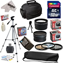 Ultimate Accessory Kit for Canon HF S10 S11 S20 S21 S30 S100 G10 G20 G25 HFS10 HFS11 HFS20 HFS21 HFS30 HFS100 HFG10 HFG20 HFG25 XA10 Video Camera Camcorder Includes - 32GB High-Speed SDHC Card + Card Reader + Vivitar 2000 mAh Replacement Battery for Canon BP819 BP-819 + 3 Piece Pro Filter Kit (UV, CPL, FLD) + 0.43x HD2 Wide Angle Panoramic Macro Fisheye Lens + 2.2x HD2 AF Telephoto Lens + Deluxe Padded Carrying Case + Professional 54