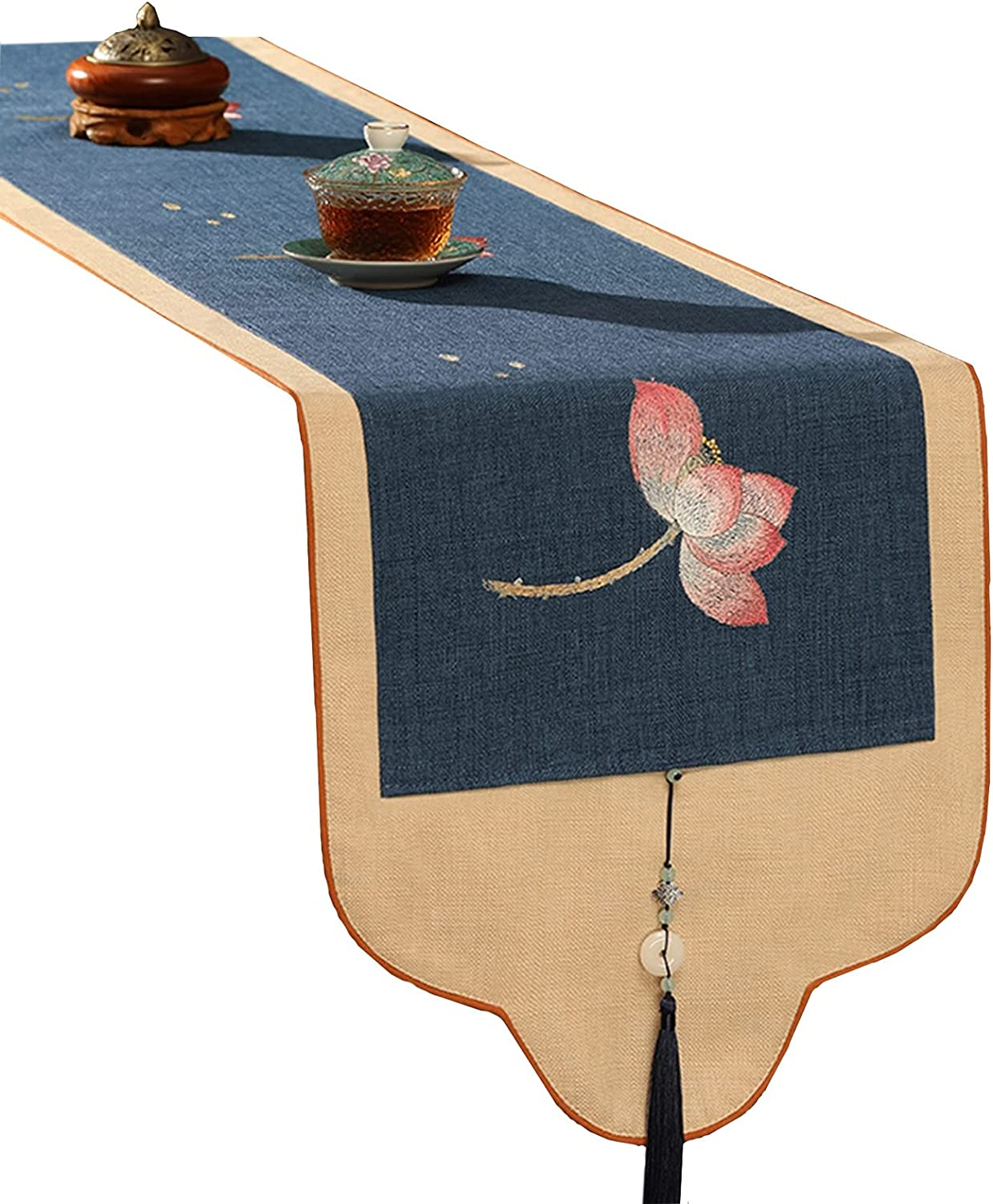 LJQQ Table Runner Embroidery Traditional Oriental Max 41% Inexpensive OFF