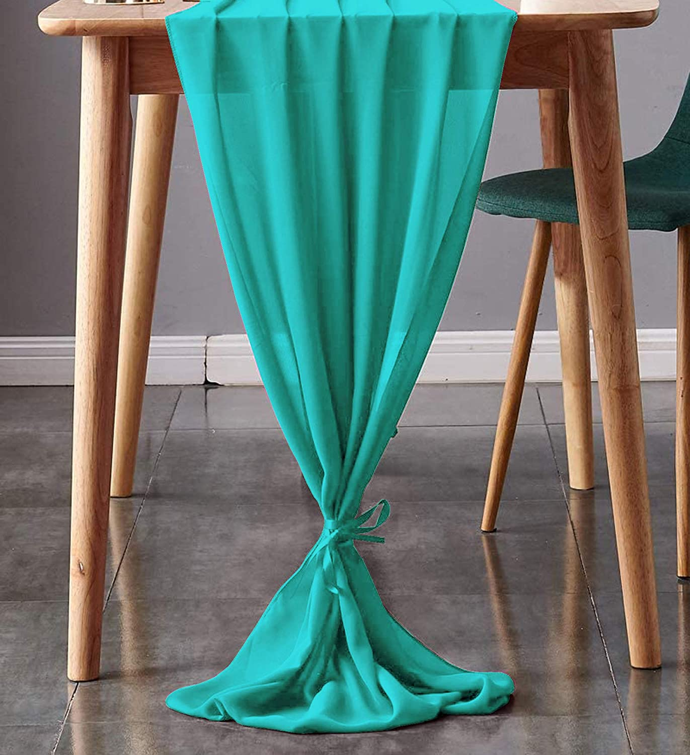 mds Large-scale sale Pack of 10 Wedding 27 x Runner We Super sale 170 Table for Chiffon inch