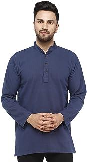 SKAVIJ Men's Tunic Kurta Shirt Modern Fit Casual Clothing