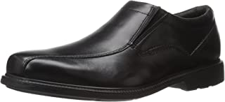 Rockport Men's Charles Road Slip-On Leather M Black W Shoes