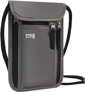 KEAFOLS Brustbeutel Brusttasche mit RFID-Blockierung leichte Reisegeldbeutel Tasche Sicherheit Umhängegeldbeutel für Passp...