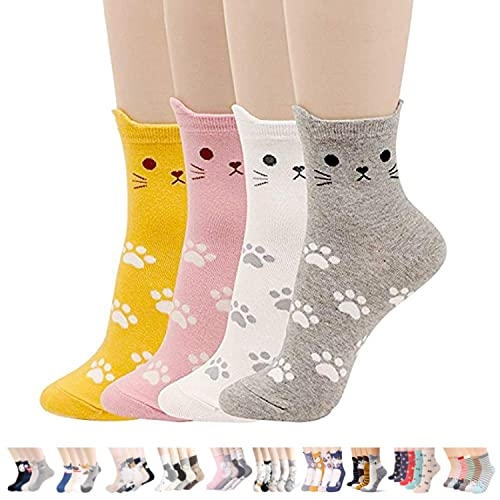 Womens Casual Socks - Cute Crazy Lovely Animal Cats Dogs Owls Art Pattern  Good for Gift 844d7f7ef5