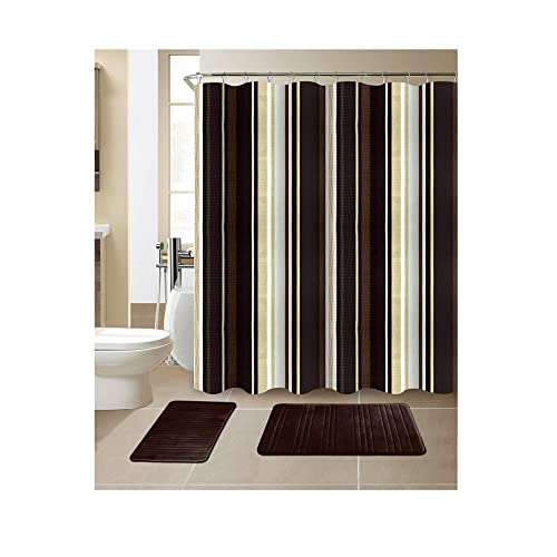 Bathroom Curtain With Matching Bath Window Curtain Amazoncom