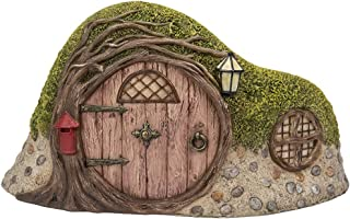 Pacific Giftware Miniature Fairy Garden of Enchantment Curved Tree Hole Cottage Figurine Display 5 Inches