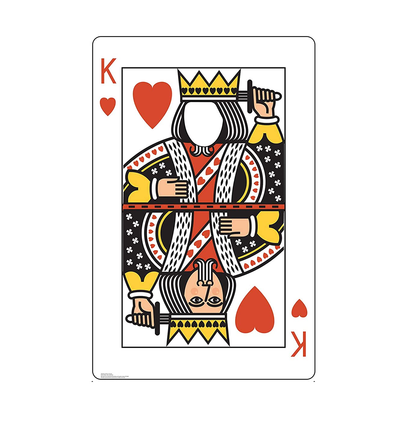 Advanced Graphics King of Hearts Card Stand-in Life Size Cardboard Cutout Standup