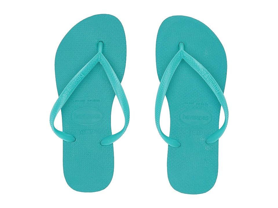 Havaianas Kids Slim Flip Flops (Toddler/Little Kid/Big Kid) (Lake Green 2) Girls Shoes