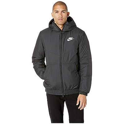 Nike NSW Synthetic Fill Jacket Hoodie (Black/Black/Black/White) Men
