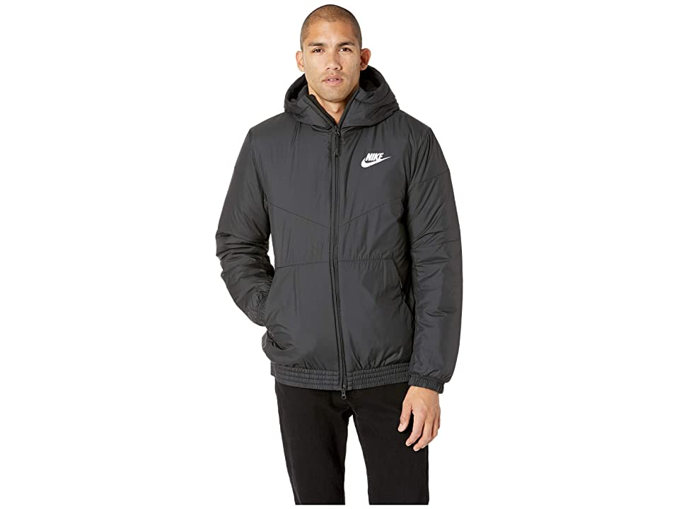 Nike NSW Synthetic Fill Jacket Hoodie (Black/Black/Black/White) Men