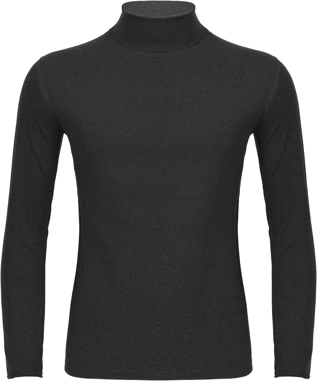 JEEYJOO Men's Long Sleeve Mock Neck Base Layer Shirts Winter Thermal Undershirt