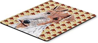 Caroline's Treasures Wire Fox Terrier Fall Leaves Mouse Pad/Hot Pad/Trivet (SC9676MP)
