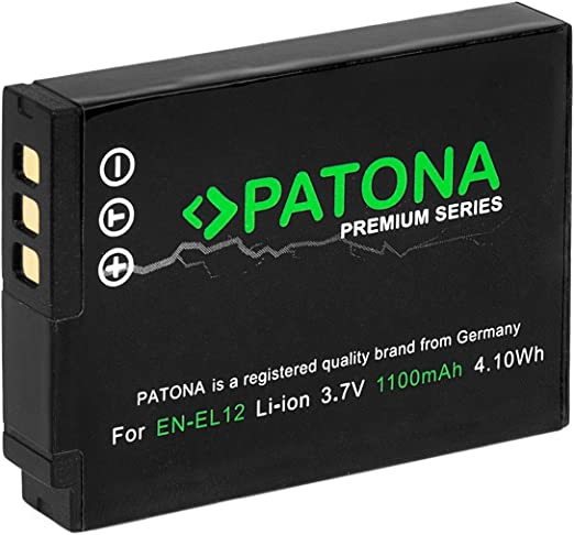 Patona Premium Ersatz Für Akku Nikon En El12 Coolpix Kamera