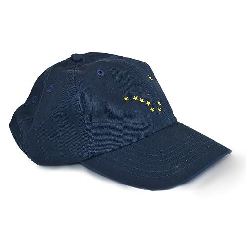 cf7eb6b14a0 Alaska State Flag Low Profile Baseball Hat