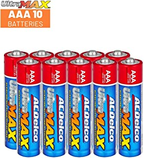 ACDelco AAA Batteries UltraMAX Premium Alkaline Battery, 10-Count
