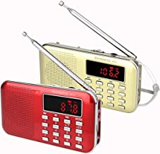 Retekess PR11 AM FM Radio Portable, Rechargeable Digital Radio with Flashlight, MP3 Music Player Speaker, Support TF Card,...