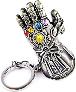 SWETHAS Avengers Infinity War -3 New Series Thanos Gauntlet Power Stone Marvel Metal Keychain