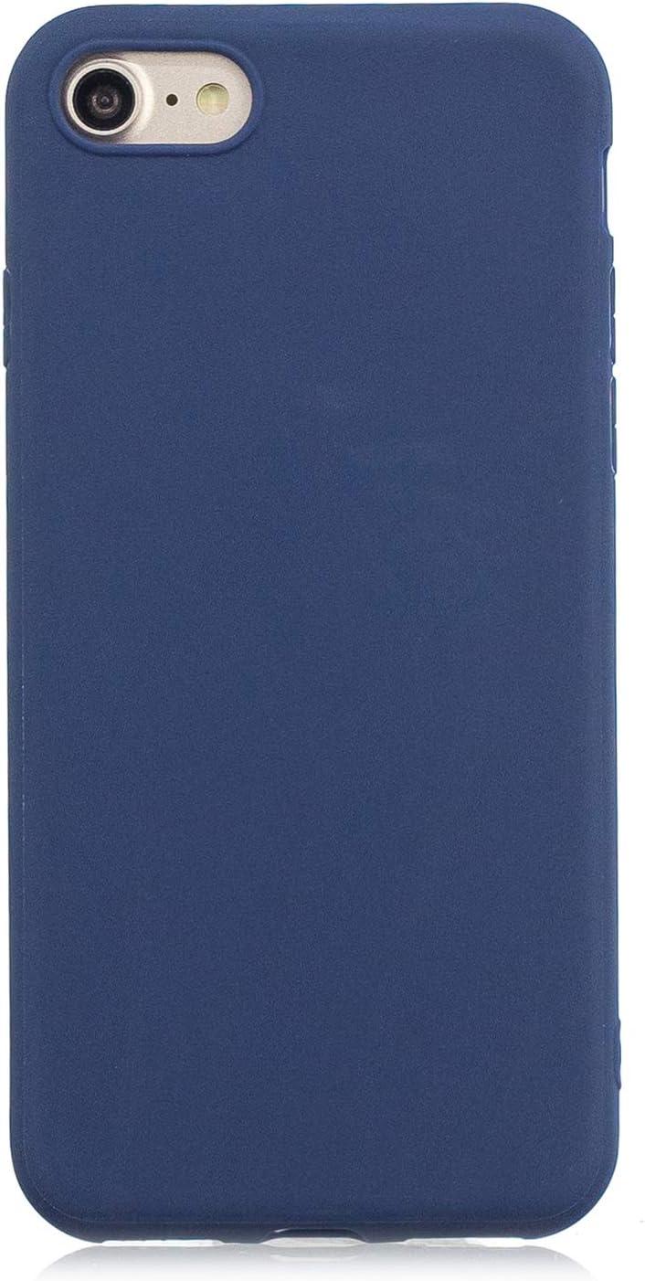 cuzz Funda para iPhone 6//6S Plus+{Protector de Pantalla de Vidrio Templado} Carcasa Silicona Suave Gel Rasgu/ño y Resistente Tel/éfono M/óvil Cover-Rosa Claro