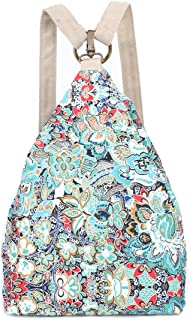 Original Women's Bohemia National Style Canvas Backpack Shoulder Bag (small), L