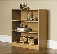 Mainstays Wide 3-Shelf Bookcase (Oak)