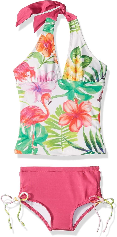 Masala Kids Girls' Halter Tankini Set Flamingo Island Directly managed store Piece Ranking TOP8 Two