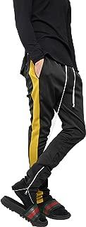 Men's Stripe Track Pants Skinny Fit Stretch Joggers