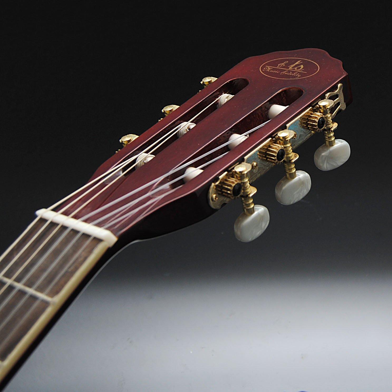 ts-ideen 5241 - Guitarra acústica clásica (tamaño 4/4, diapasón en ...