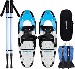 Carryown 14/21/25/30 Inches Snowshoes for Kids Men and Women Lightweight Snow Shoes with Poles + Leg Gaiters + Free Carrying Bag