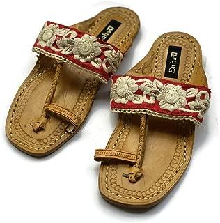 Enhara Kolhapuri Chappals with Sandals for Women/Handmade Sandals/Ethnic Indian Flip Flops