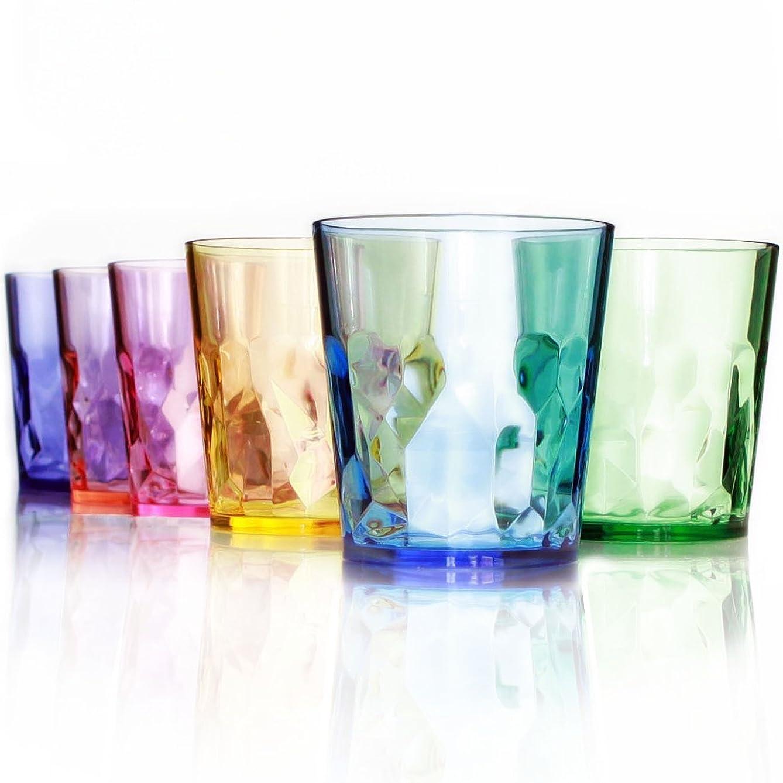 メディカル乱れリスト【日本製】400ml プレミアム グラス - 6個セット - 割れない コップ - トライタン BPA フリー プラスチック